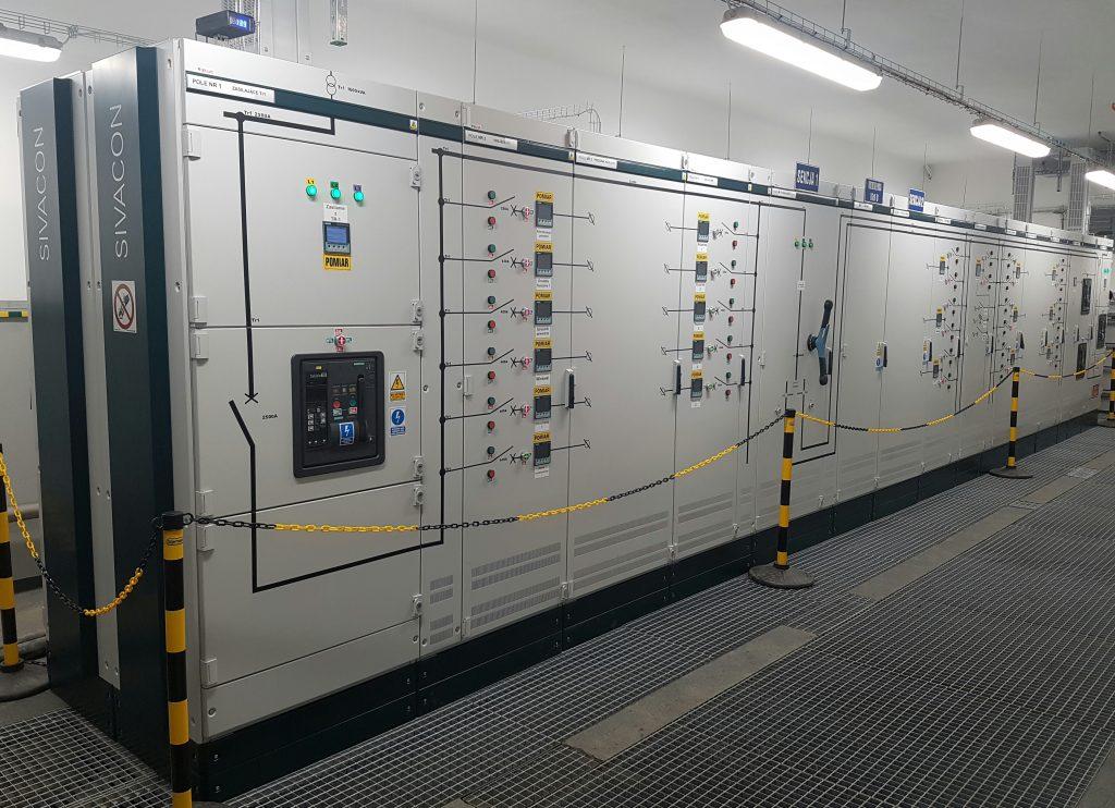 Siemens Sivacon S4 rozdzielnica dubeltowa zasilania 2x1600A, 1x2500A
